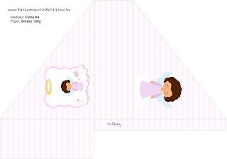 Brunette Angel Girl,  Free Printable napkin holder.