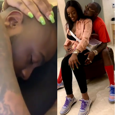 Davido And Chioma All Loved Up In Bed At Dubai