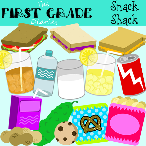 The First Grade Diaries: Snack Shack Food Clip Art
