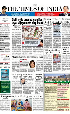 Times Of India Newspaper Today In English Pdf