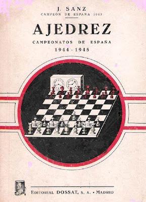 Portada del libro Campeonatos de España de Ajedrez 1944-1945 de José Sanz