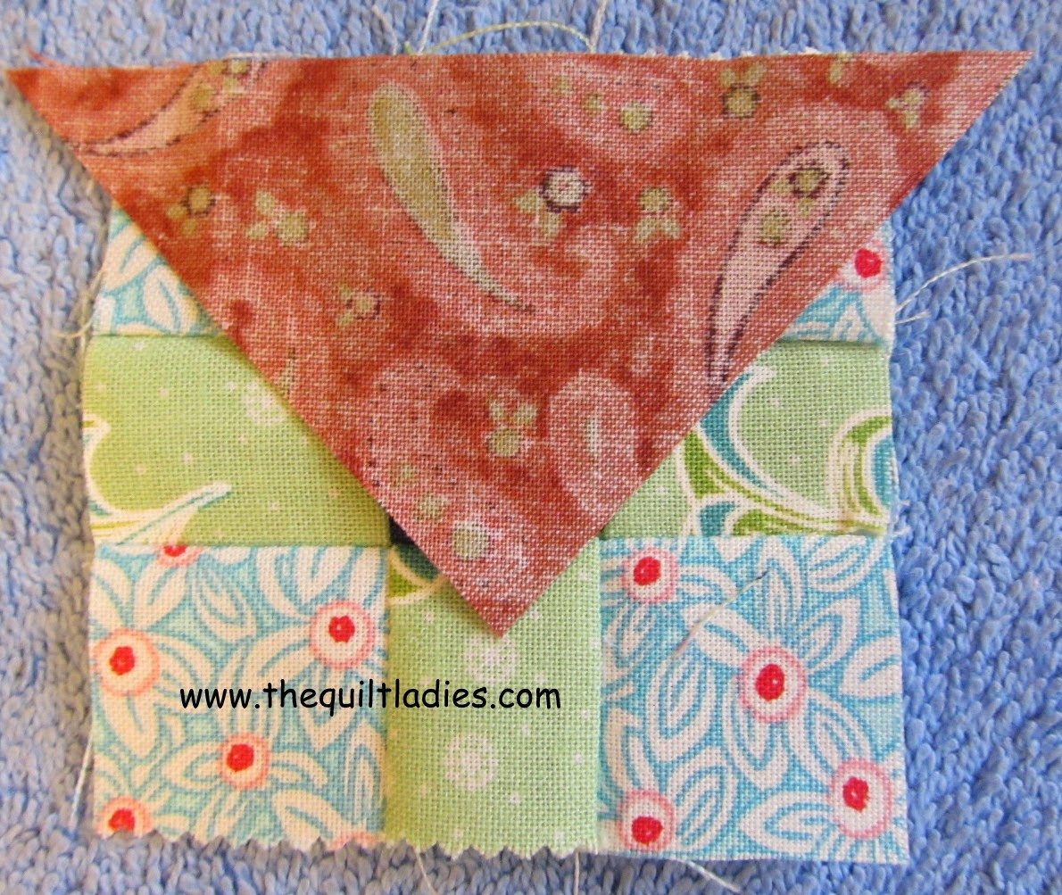 How to make a nine patch quilt block into a quilted table topper.
