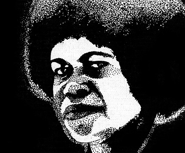 Black and white drawing of Grace Mera Molisa