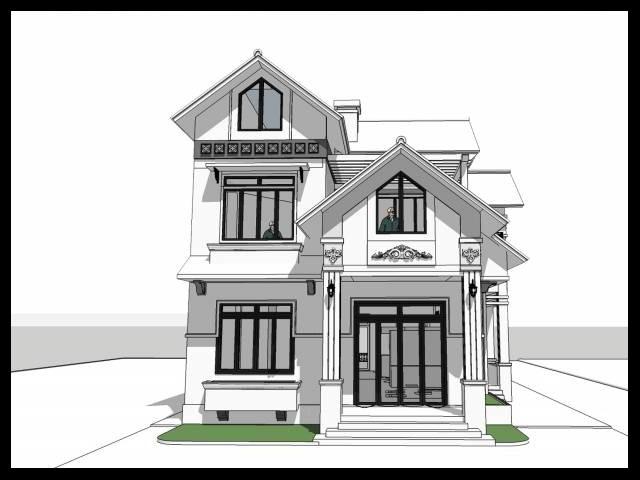 Thiết kế mẫu biệt thự đẹp 2 tầng | Mẫu biệt thự đẹp