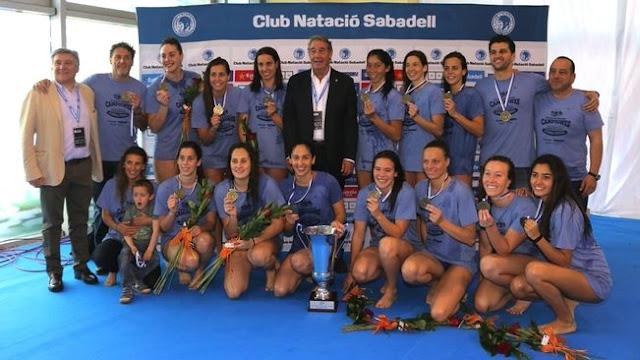 WATERPOLO - Euroliga femenina 2016: CN Sabadell levanta su cuarta Copa europea ante su público