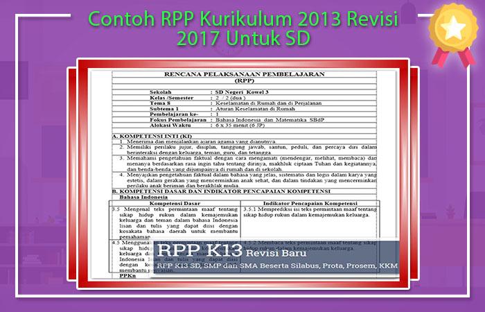 Contoh RPP K13 SD