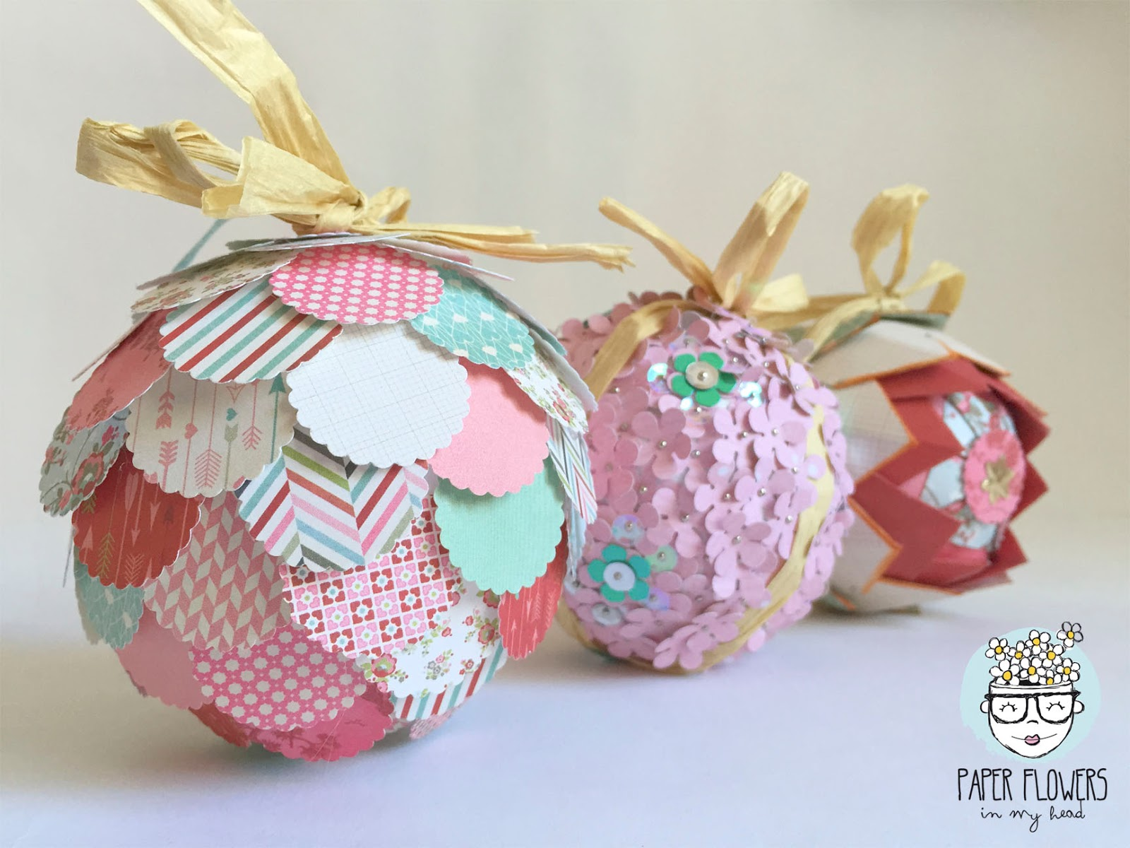 Decorar Bolas De Porexpan 3 Ideas Para Decorar Bolas De Navidad Con Papel De
