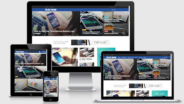 FlexMag Responsive Magazine Blogger Template