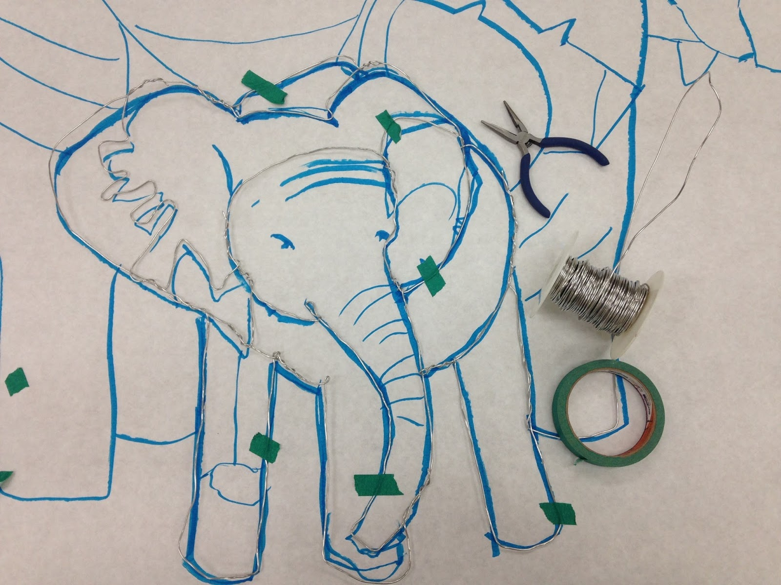 Kristen Applebee: Wire Elephant Wall Art