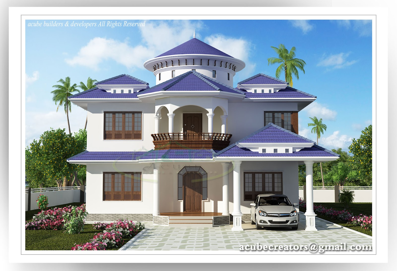 Beautiful Kerala House 2804 Sq Ft Plan 141