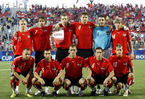 Formación de Austria ante Chile, Copa del Mundo Sub-20 Canadá 2007, 8 de julio