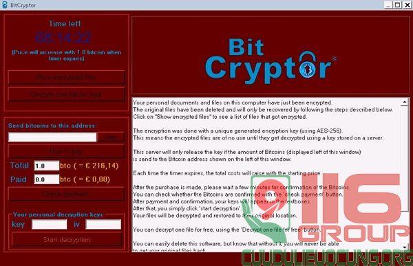 Cách xử lý bị virus tống tiền mã hóa tài liệu