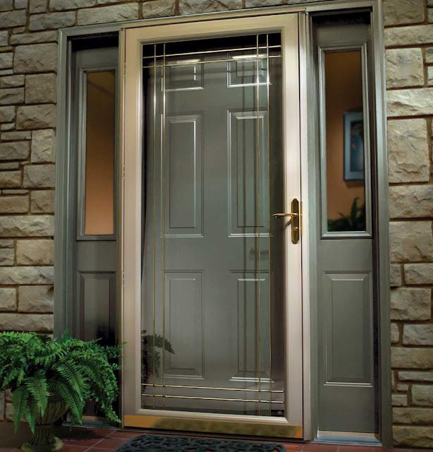 27 contoh gambar Model desain pintu minimalis kayu jati paling keren