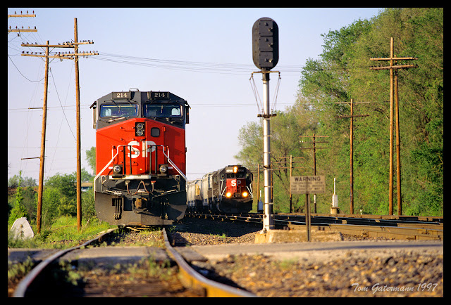 SP 214 and SP 8706 on Union Pacific's Chester Subdivision at Airflite Road.