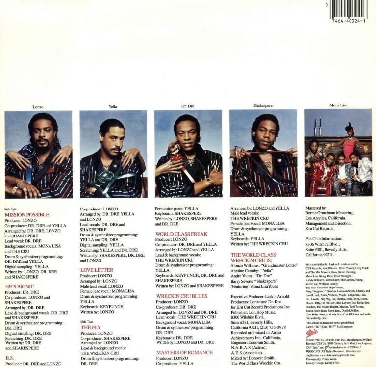 World Class Wrecking Crew Album Cover y'all ever bother to l...