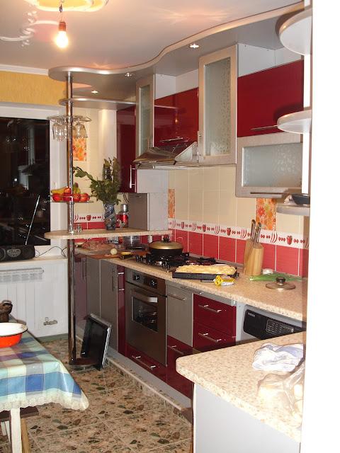 Кухни глянца акрила