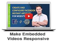 Make Embedded Videos Responsive on Blogger