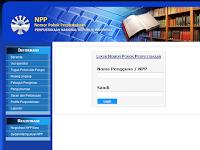 Cara Registrasi NPP (Nomor Pokok Perpustakaan ) 2016