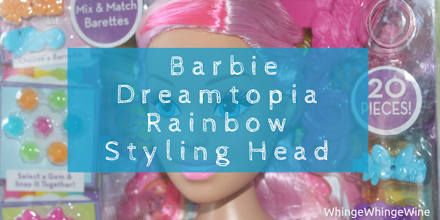 Barbie Dreamtopia Rainbow Styling Head (similar to girl's world!) review