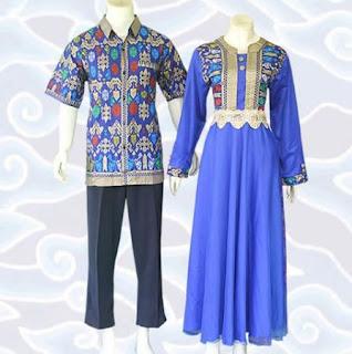 contoh model baju batik couple elegan