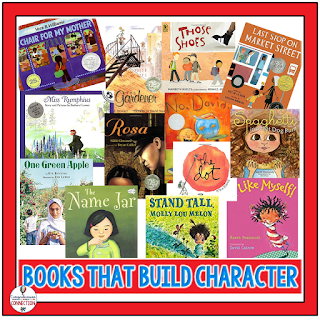 Classroom Community starts with the classroom teacher. This post includes five ideas to help you build a positive classroom community all year long. These titles may help you work in themes of kindness, community, diversity, and goal setting.