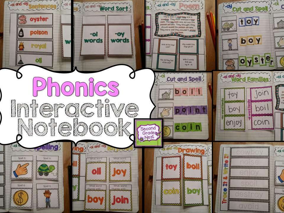 Phonics interactive notebook- hands on practice for phonics and word work skills