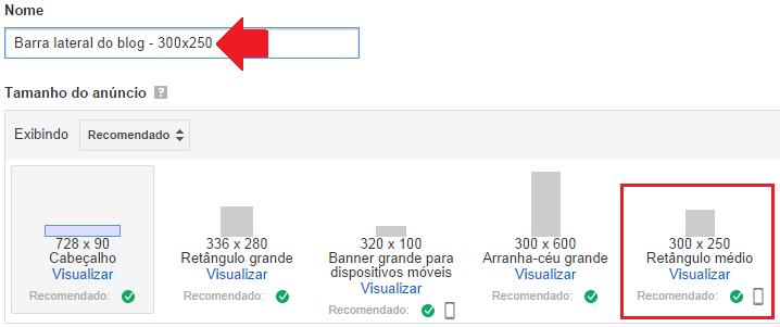 criar anúncio no google adsense