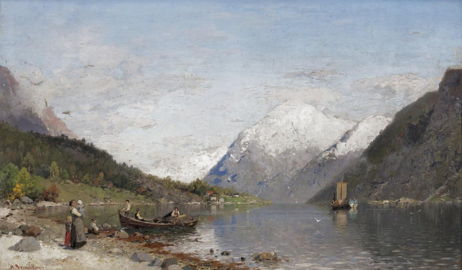 Georg Anton Rasmussen ~ Pinturas de paisagens