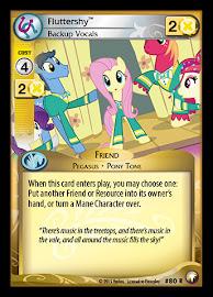 My Little Pony Fluttershy, Backup Vocals Equestrian Odysseys CCG Card