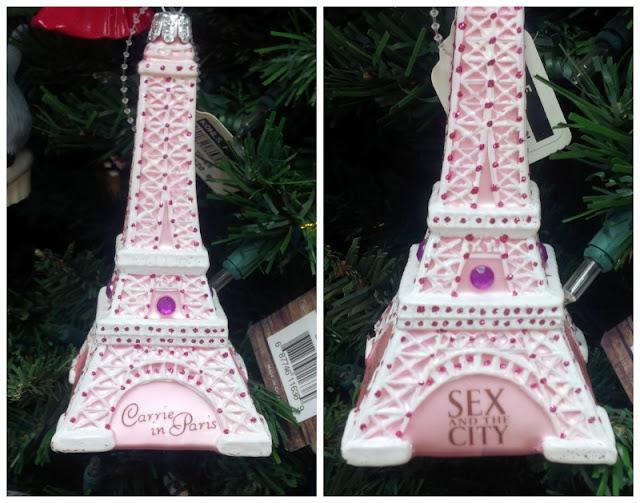 eiffel tower christmas ornament