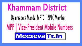 Dammapeta Mandal MPTC | ZPTC Member | MPP | Vice-President Mobile Numbers Khammam District in Telangana State