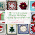 12 Free Christmas Winter Holidays Granny Square Patterns