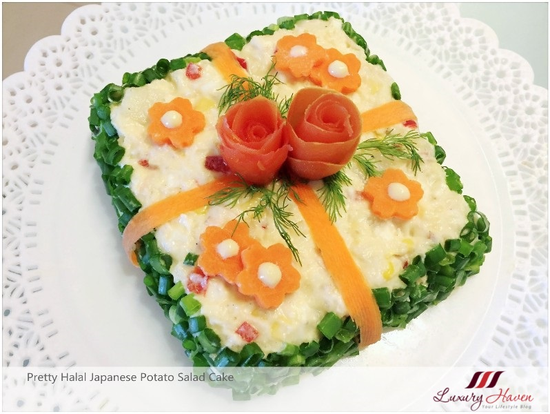 Halal Japanese Potato Salad Cake A Tasty Eye Candy Recipe Luxury