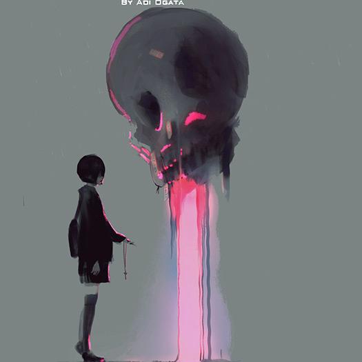 Girl and Skull Wallpaper Engine