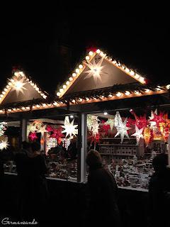 Heidelberger Weihnachtmarkt estrellas sterne