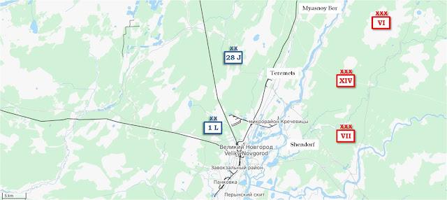 Assault north of Novgorod