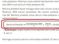 Cara Menentukan Nilai Predikat Rapor SD Kurikulum 2013 Edisi Revisi