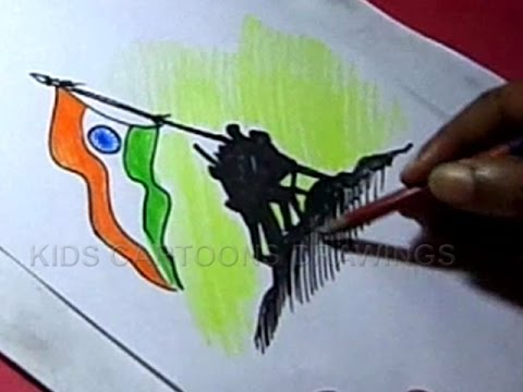 Step by step drawing on Independence Day