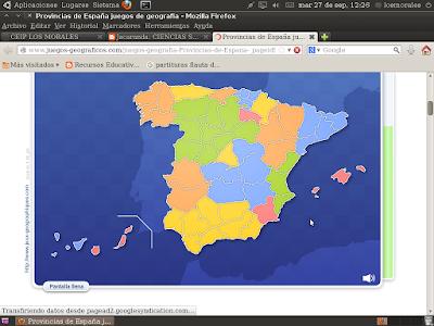Aprender las provincias de España