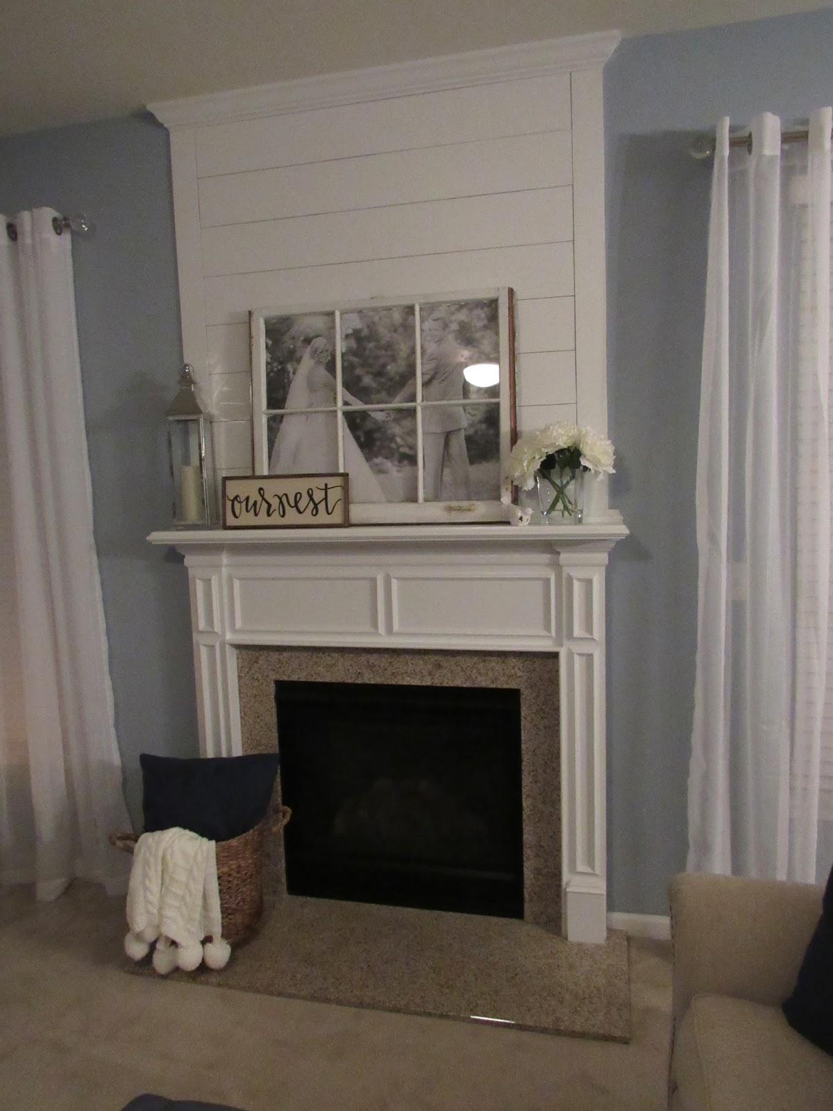 my old kentucky home design: diy shiplap fireplace makeover
