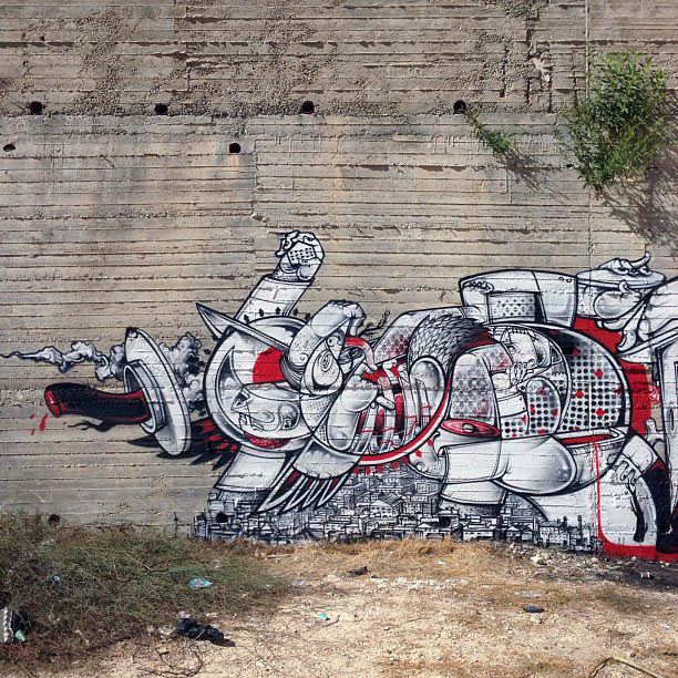 Street Art Duo How Nosm In Palestine Where They Painted Several New Pieces. 3