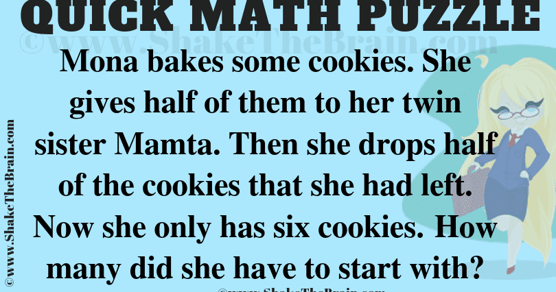 Simple Math Puzzle For Kids With Answer Shake The Brain