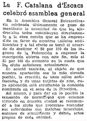 Recorte de Mundo Deportivo del 3 de octubre de 1936