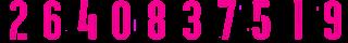 20 Kit Numbers Puma 2017