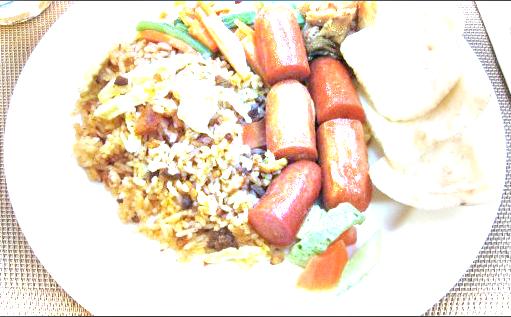 cara memasak nasi goreng sosis untuk sarapan pagi oleh ibu