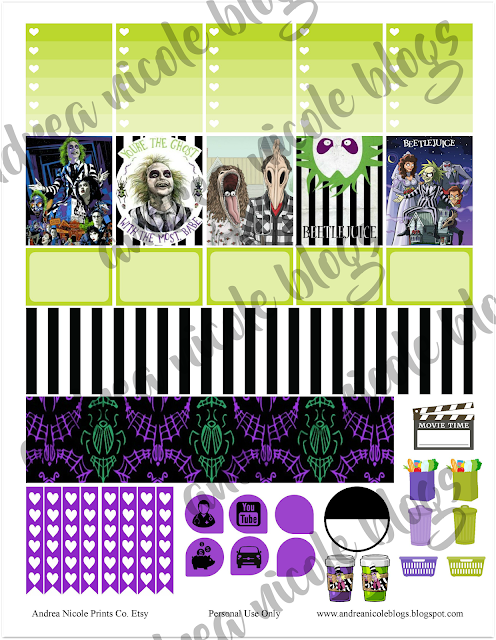 Free Halloween Beetlejuice Planner Stickers