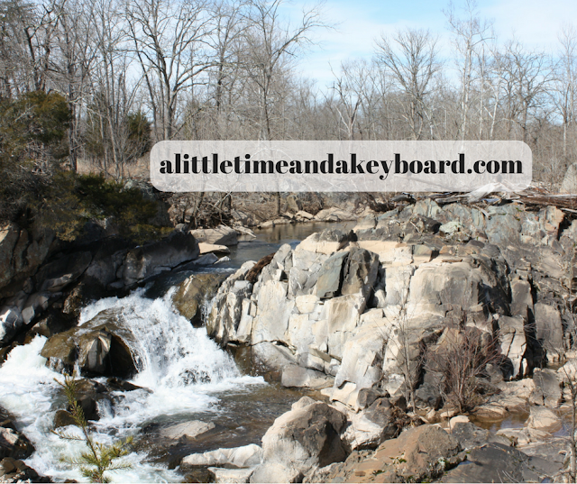 Waterfalls and rapids dot the landscape at Great Falls in Maryland