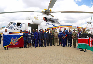 NPS recieved a Mi-17 Helicopter as part of the Police modernisation project to enhance mobility. PHOTO | Courtesy