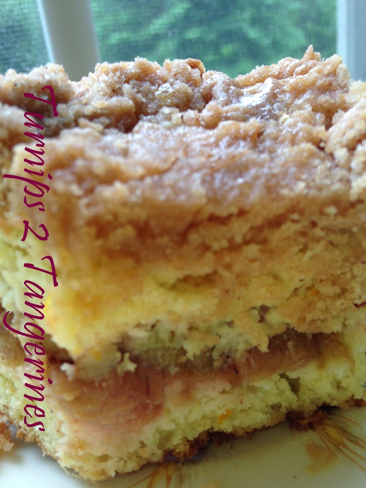 Rhubarb Cake Using Frozen Rhubarb