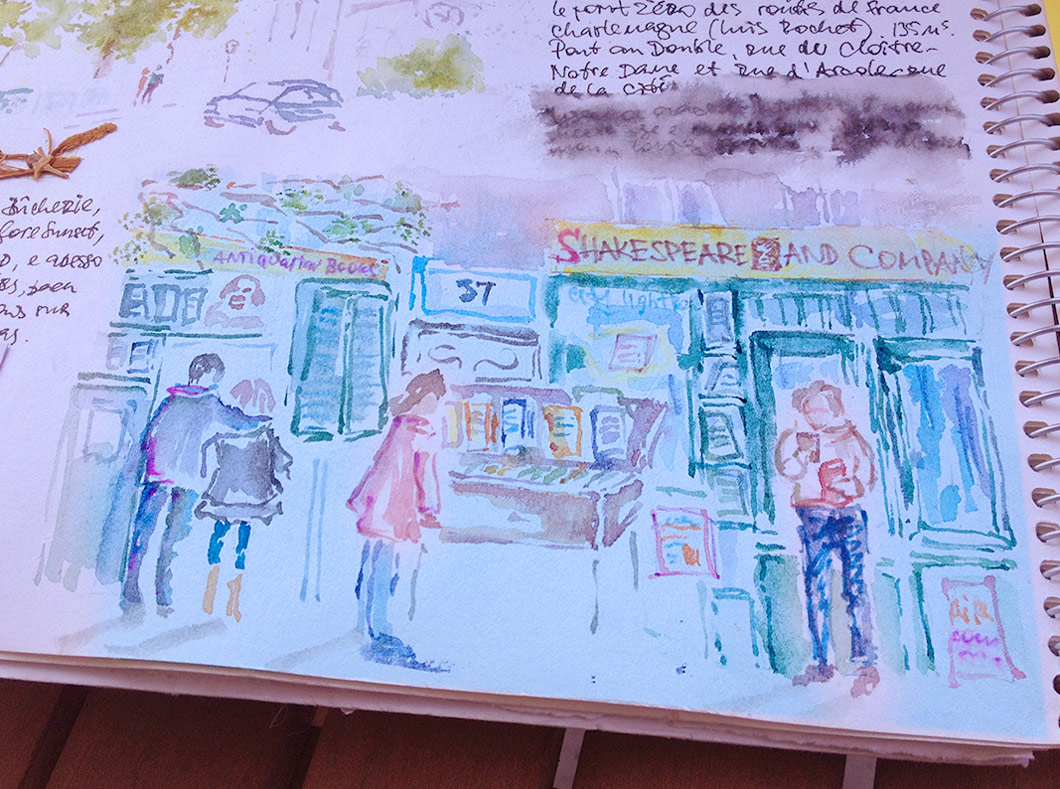 Paris-Shakespeare-and-company-watercolor